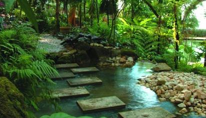 the exotic Spice Garden