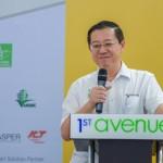 槟州首长兼槟州绿色机构主席林冠英于2015年6月13日在第一大道购物广场主持2015槟  州绿色嘉年华开幕礼的开幕词